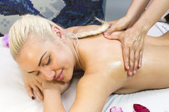 Massage de Balinese Image stock