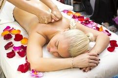 Massage de Balinese Photos libres de droits