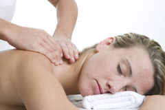 Massage de corps Images libres de droits