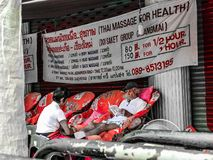 Massage de corps latéral de route photo libre de droits