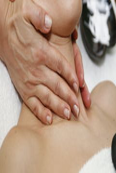 Massage de cou Image libre de droits