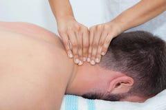 Massage de cou photo libre de droits