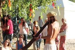 Massage de Didgeridoo photos stock