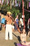 Massage de Didgeridoo photographie stock libre de droits