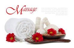 Massage de fines herbes de compresse de station thermale Image stock