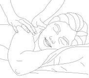 Massage de fuselage illustration libre de droits