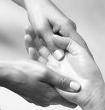 Massage de la main Photo libre de droits