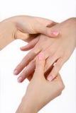 Massage de main Images stock
