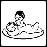 Massage de noir et blanc Photo stock