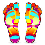 Massage de pied Image stock