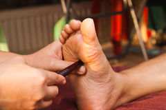 Massage de pied de Reflexology Images libres de droits