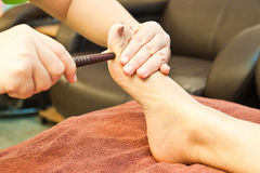 Massage de pied de Reflexology Photos stock