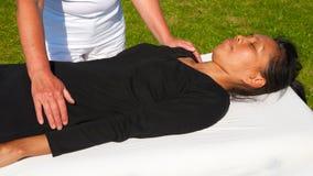 Massage de polarité Photo stock