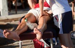 Massage de sports Photographie stock libre de droits