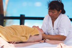 Massage de station thermale Photos libres de droits