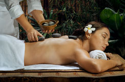 Massage de station thermale Photo stock