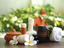 Massage de station thermale et traitement sur le bois, Thaïlande, foyer choisi photo stock