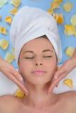 Massage de visage Image libre de droits