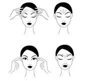 Massage de visage Images libres de droits