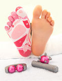 Massage der Füße lizenzfreie stockbilder