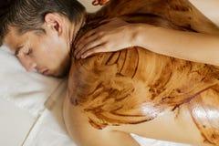 Massage der heißen Schokolade stockfotografie