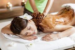 Massage der heißen Schokolade stockfotos