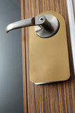 Massage on the door knob Stock Images