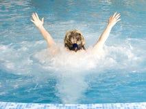 Massage door water stock foto's