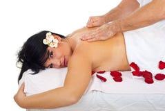 Massage doux et profond image libre de droits