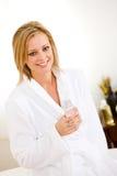 Massage: Drinking Water After Massage stock photos