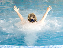 Massage durch Wasser Stockfotos