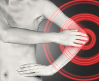 Massage elbow joint Stock Photography