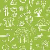 Massage en kuuroordconcept, naadloos patroon voor uw Stock Afbeeldingen