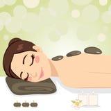 Massage en pierre de détente Image stock