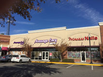 Massage Envy and Princess Nails stores Stock Photography