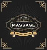 Massage et conception de bannière de station thermale Image stock