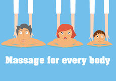 Massage for everybody conceptual illustration. Stock Photo