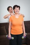Massage after exercise Royalty Free Stock Photos