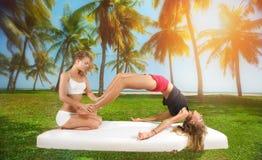 Massage exotique de pied Images libres de droits