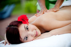 Massage extérieur Photos stock