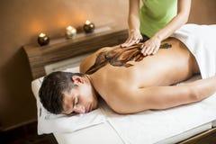 Massage för varm choklad royaltyfri fotografi