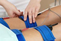 Massage für Füße. Stockbild