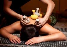 Massage für Männer stockfoto