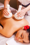 Massage für müde Muskeln Stockbilder