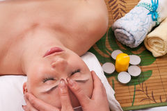 Massage face Stock Photo