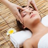 Massage of face stock images