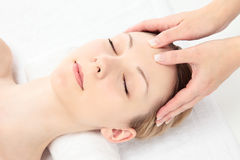 Massage facial Images stock