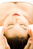 Massage facial Photos stock