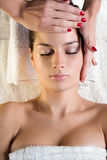 Massage facial Photographie stock