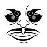 Massage facial abstrait illustration de vecteur